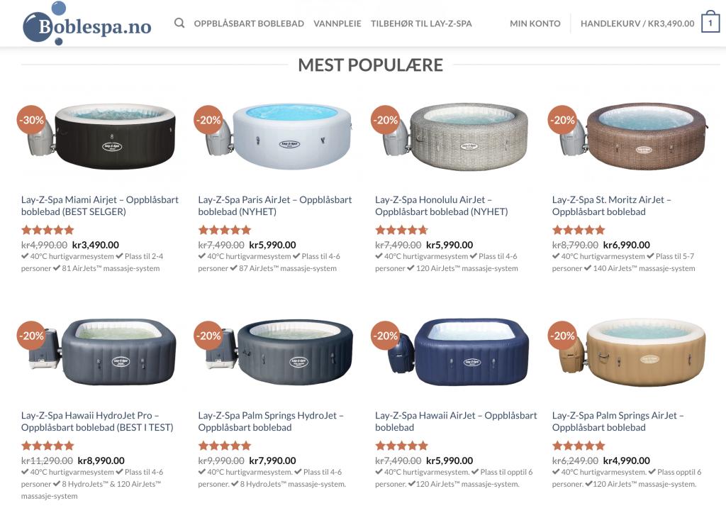 Boblespa.no er et av Norges største forhandlere for Lay-Z-Spa boblebad